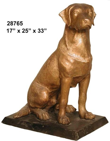 Bronze Labrador Retriever Statue - AF 28765
