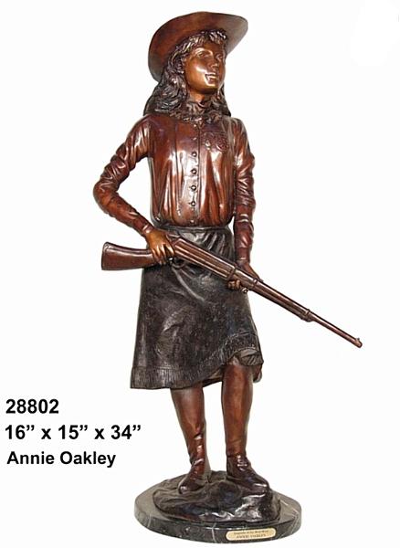 Bronze Annie Oakley Statue - AF 28802