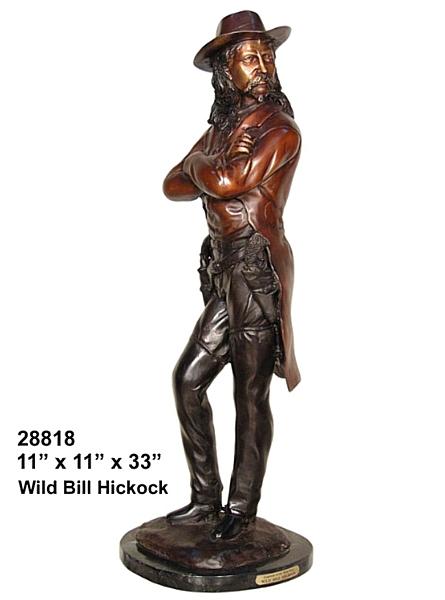 Bronze Wild Bill Hickock Statue - AF 28818