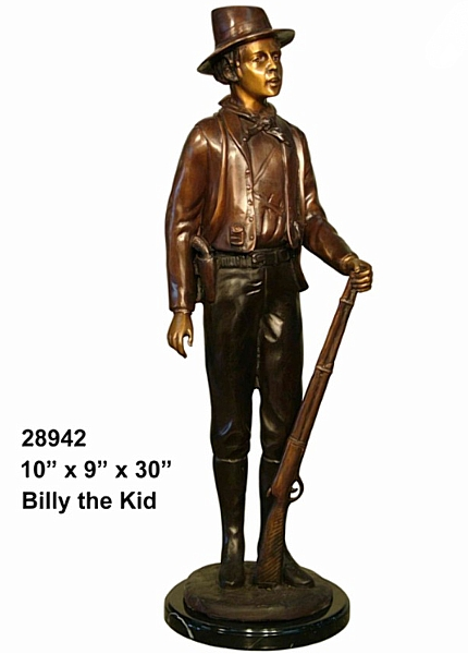 Bronze Billy the Kid Statue - AF 28942