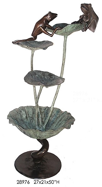 Bronze Frog Fountain - AF 28976