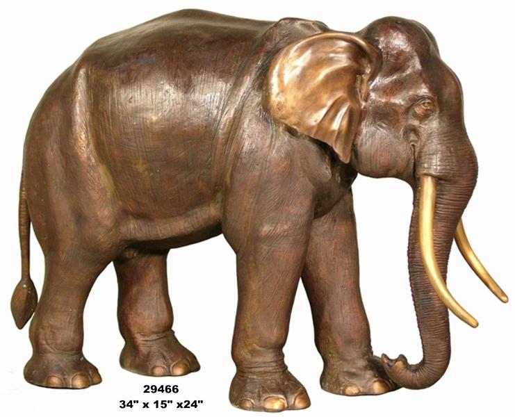 Bronze Elephant Statues - AF 29466
