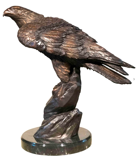 Bronze Falcon Statues - AF 47022M