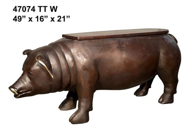 Bronze Pig Benches