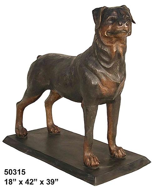 Bronze Rottweiler Statue - AF 50315