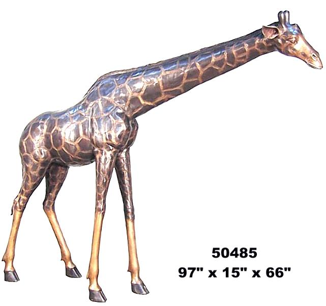 Bronze Giraffe Statues - AF 50485