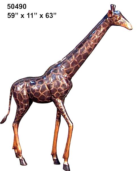 Bronze Giraffe Statues - AF 50490