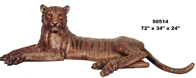 Bronze Bengal Tiger Statues - AF 50514