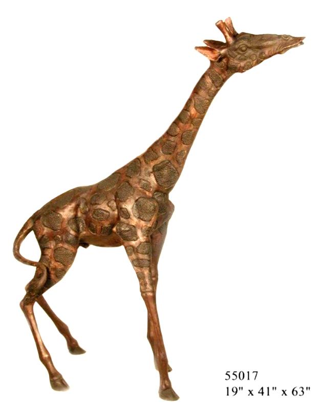Bronze Giraffe Statues - AF 55017