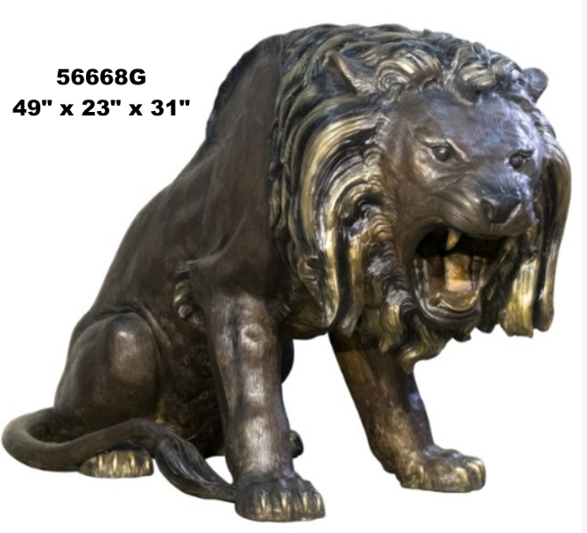 Bronze Lion Statues - AF 56668G