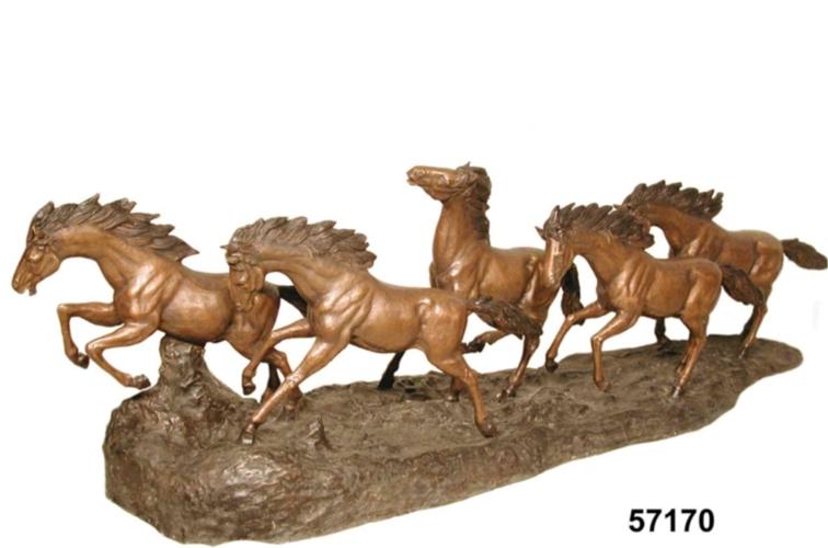 Bronze Wild Horse Statues - AF 57170