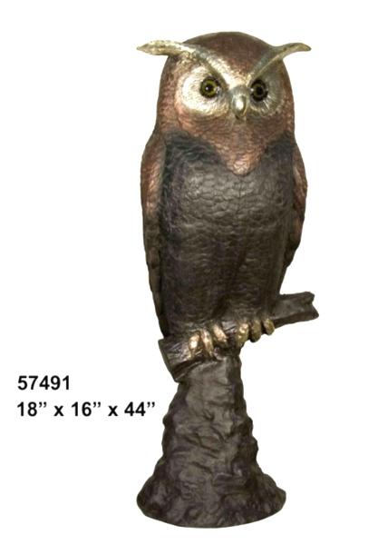 Bronze Owl Statues - AF 57491