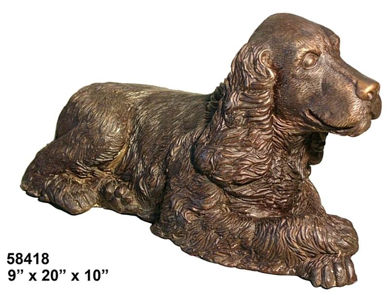 Bronze Cocker Spaniel Statues - AF 58418