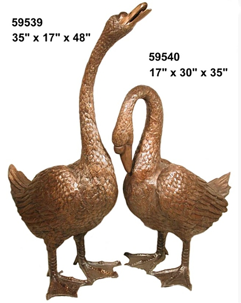 Bronze Geese Statues - AF 59539-40-S
