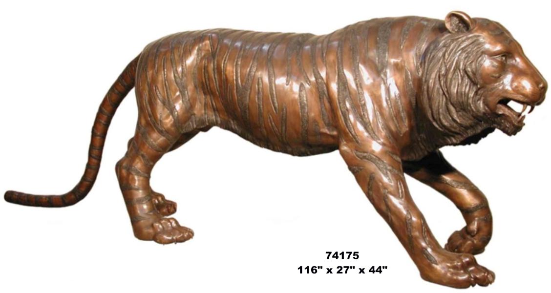 Bronze Tiger Statues - AF 74175