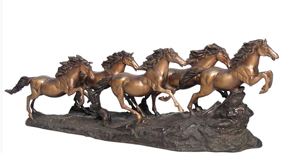 Bronze Wild Horse Statue - AF 74205