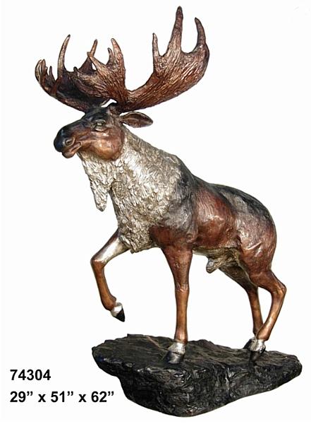Bronze Moose Statue - AF 74304 TT