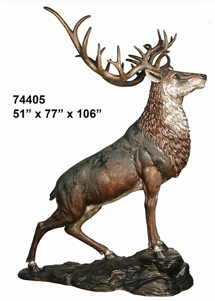Bronze Deer Statues - AF 74405
