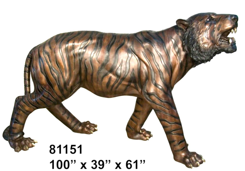 Bronze Tiger Statues - AF 81151