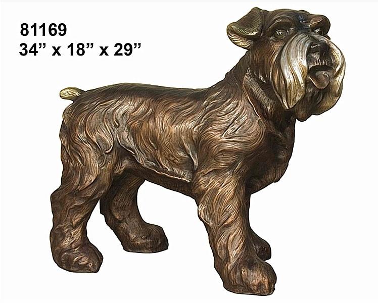 Bronze Dog Statues - AF 81169