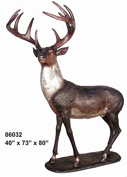 Bronze Deer Statues - AF 86032