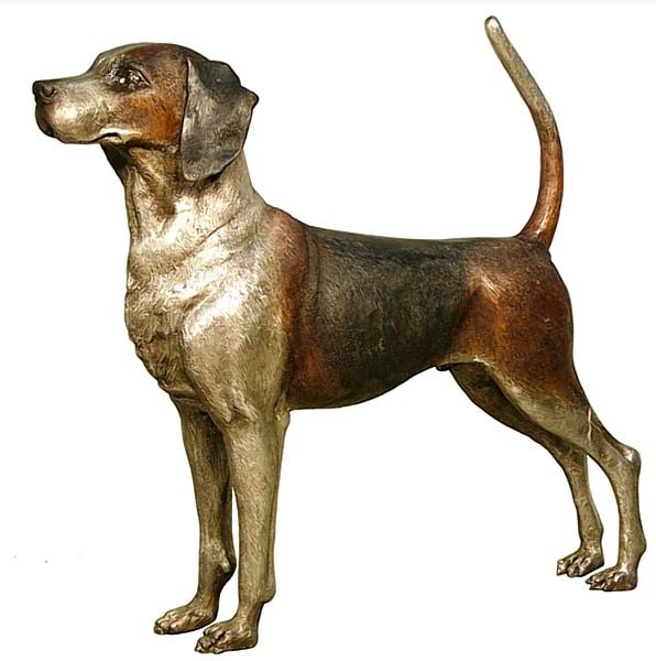 Bronze Beagle Dog Statues - AF 94060
