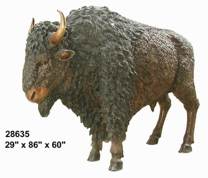 Bronze Bison Statues - AF 28635