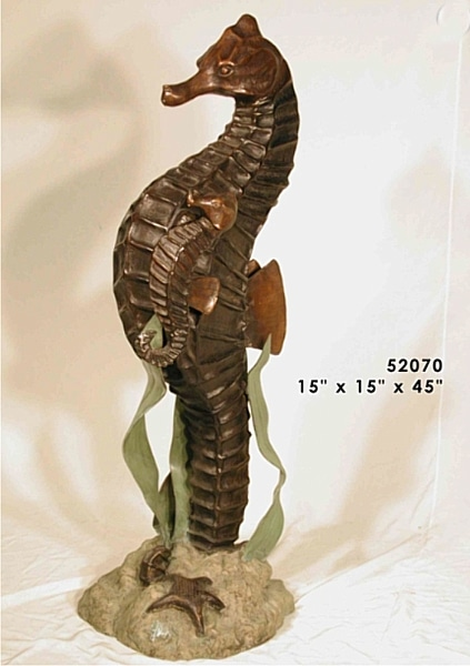 Bronze Seahorse Statues - AF 52070-S