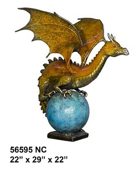 Bronze Dragon Fountains - AF 56595NC-F