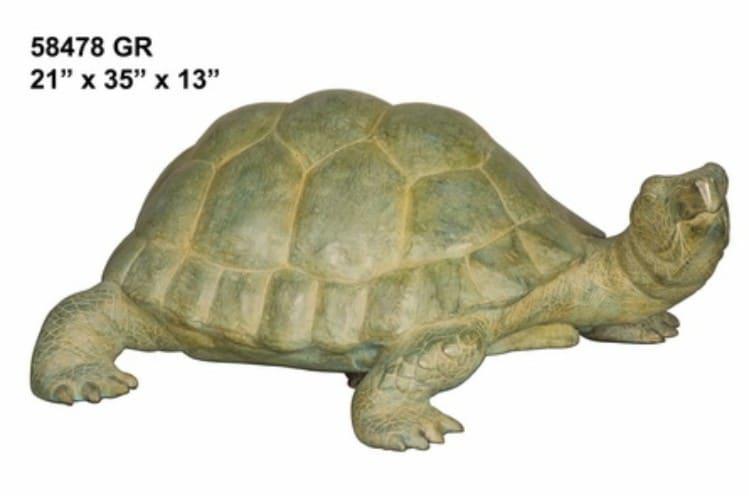 Bronze Turtle Statue - AF 58478GR-S
