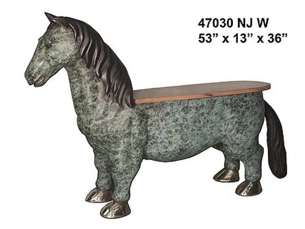 Bronze Horse Benches