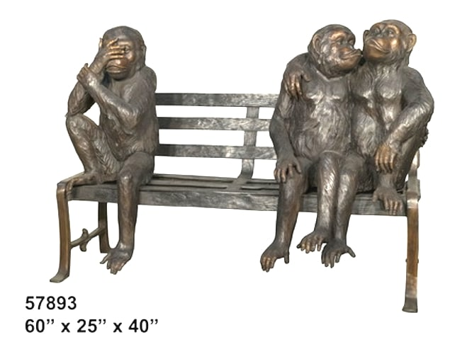 Bronze Monkey Benches - AF 57893