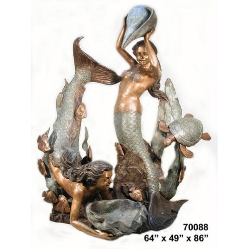 Bronze Mermaids & Shells Fountain - AF 70088-F