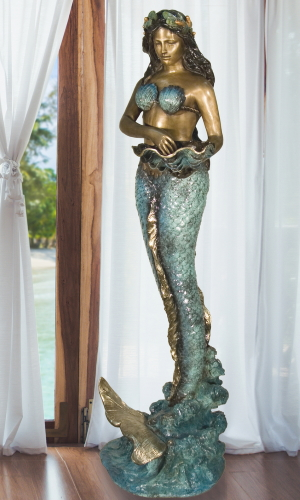 Bronze Mermaid Statue - AF 84057NA-S