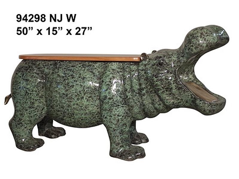 Bronze Hippopotamus Benches - AF 94298 NJ W