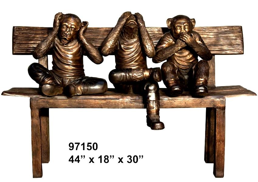 Bronze Monkey Benches - AF 97150