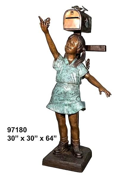 Bronze Girl Mailbox - AF 97180