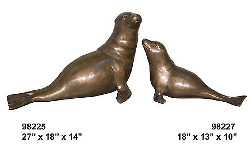 Bronze Mother Seal Pup Fountains - AF 98225-27-F