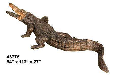 Bronze Alligator Crocodile Fountains - AF 43776-F