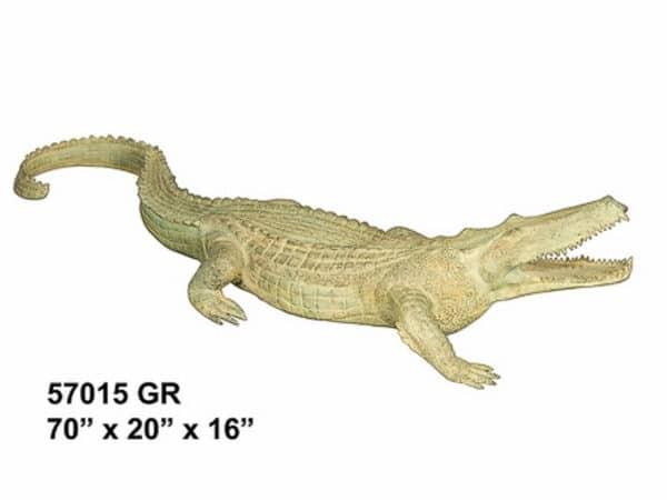 Bronze Alligator Crocodile Fountain Statue