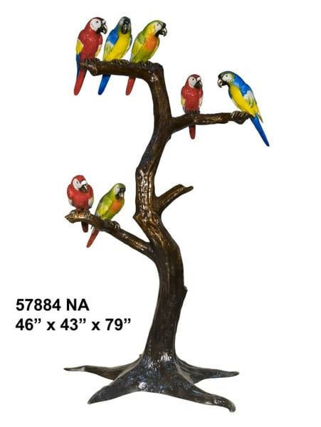 Bronze Birds in Tree Statues - AF 57884-NA