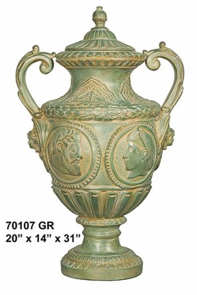 Bronze Roman Relief Urn - AF 70107 GR