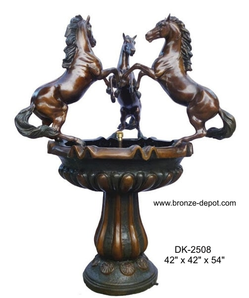 Bronze Horse Bowl Fountain