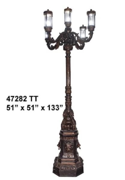 Bronze Decorative Torchiere Light - AF 47282 TT