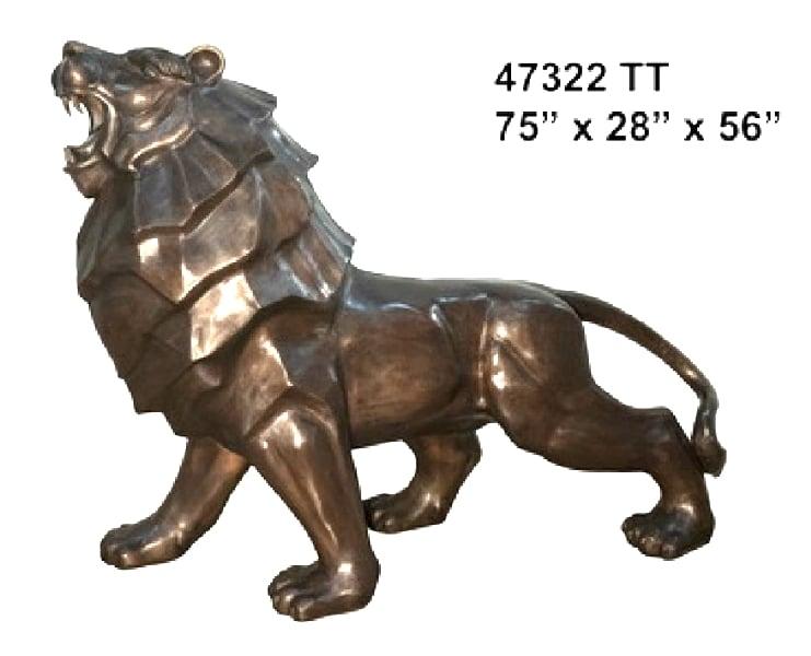 Life Size Bronze Lion Statue - AF 47322 TT