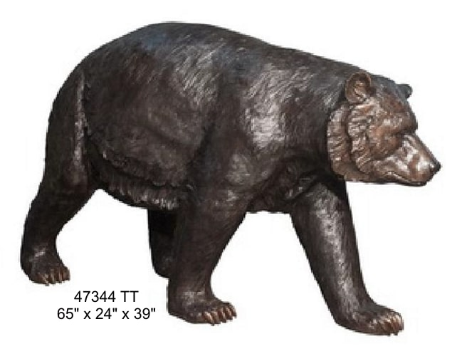 Brown Bear Bronze Statue - AF 47344 TT