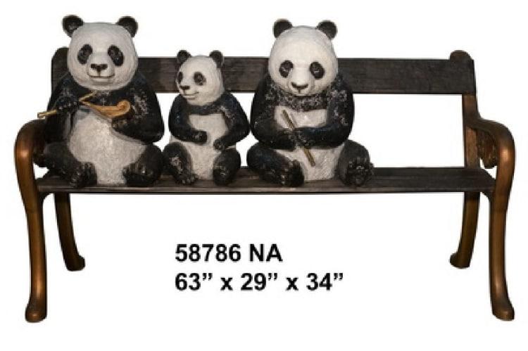 Bronze Panda Bench - AF 58786 NA