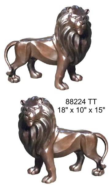 Bronze Lions Tabletop Statues - AF 88224 TT