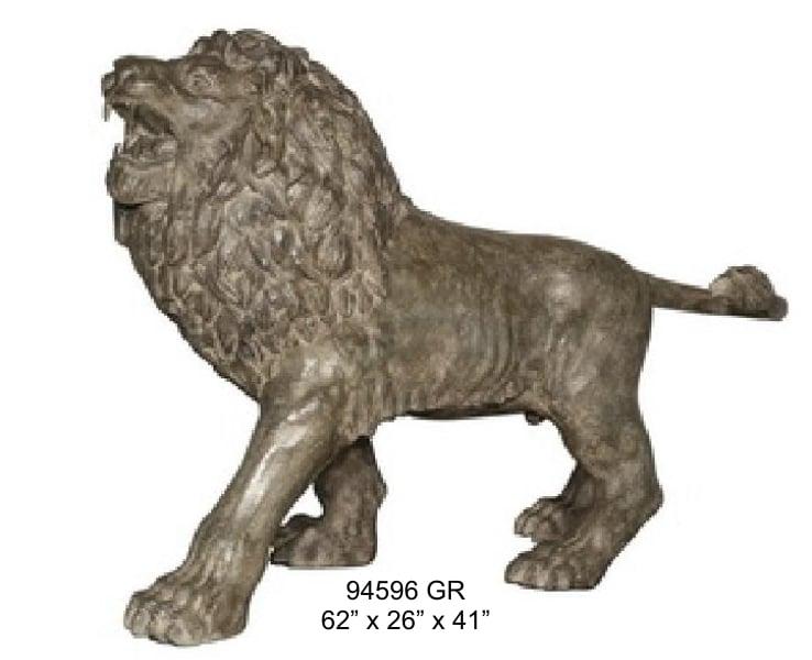 Bronze Lion Statues - AF 94596 GR