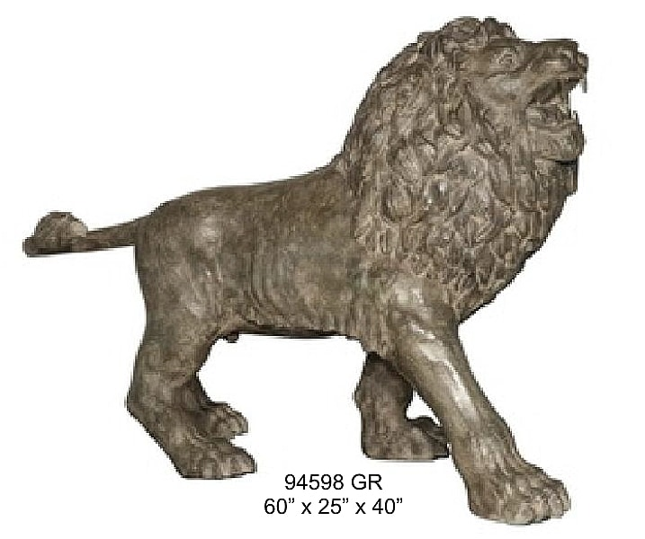 Bronze Lion Statues - AF 94598 GR